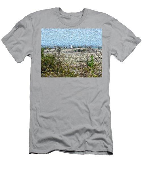 Lighthouse View Men's T-Shirt (Athletic Fit)