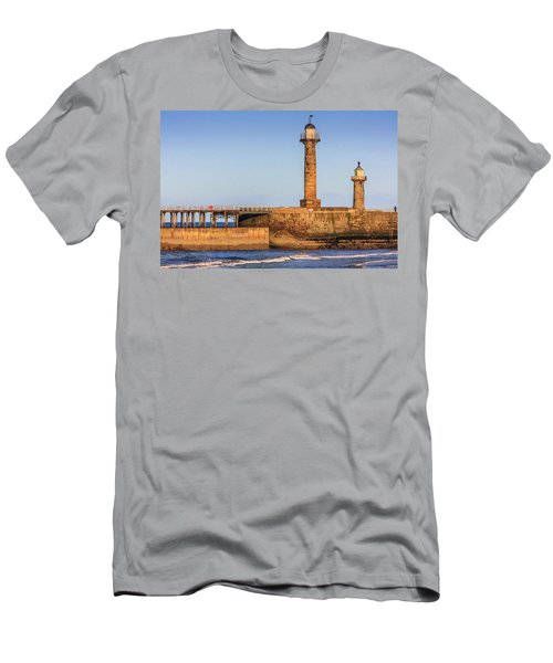 Lighthouses On The Piers Men's T-Shirt (Athletic Fit)