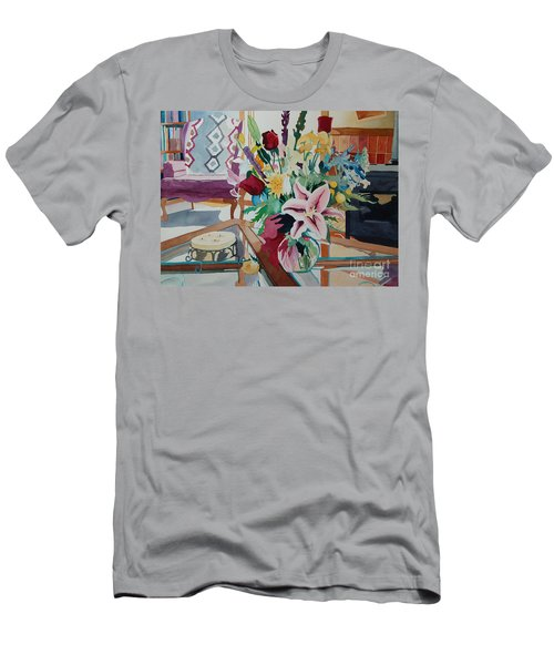 Lily Still Life Men's T-Shirt (Athletic Fit)