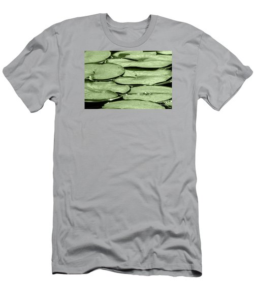 Men's T-Shirt (Slim Fit) featuring the photograph Lilypads by Roselynne Broussard