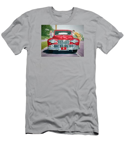 Lincoln In Red Men's T-Shirt (Athletic Fit)