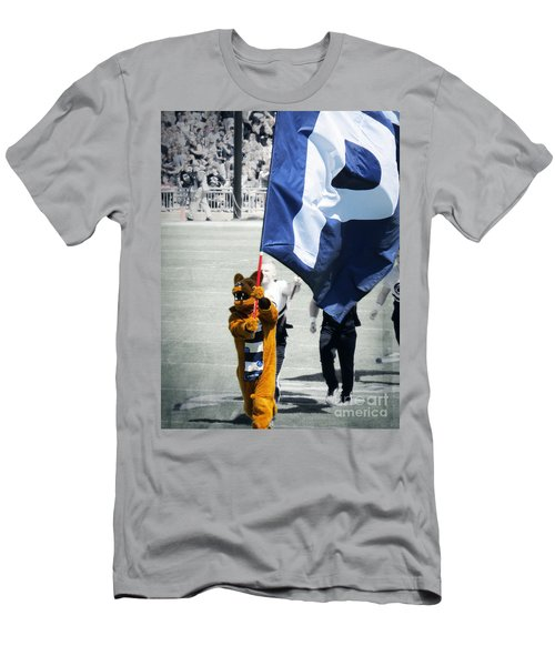 Lion Leading The Team Men's T-Shirt (Athletic Fit)