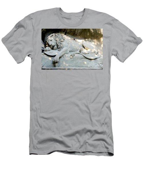 Lion Monument In Lucerne Switzerland Men's T-Shirt (Athletic Fit)