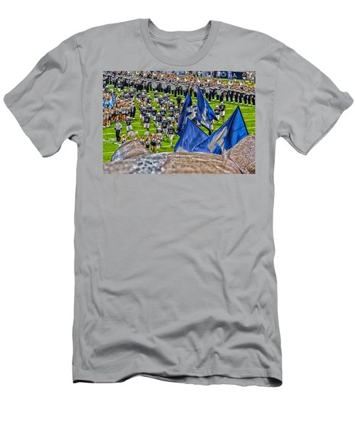Lion Watching The Entrance Men's T-Shirt (Slim Fit) by Tom Gari Gallery-Three-Photography