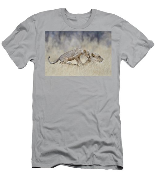 Lioness Panthera Leo With Its Cub, Kenya Men's T-Shirt (Athletic Fit)