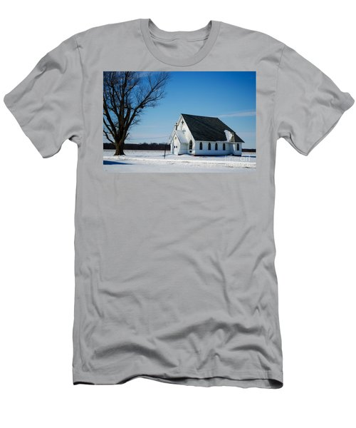 Little Church On The Prairie Men's T-Shirt (Slim Fit) by Luther Fine Art