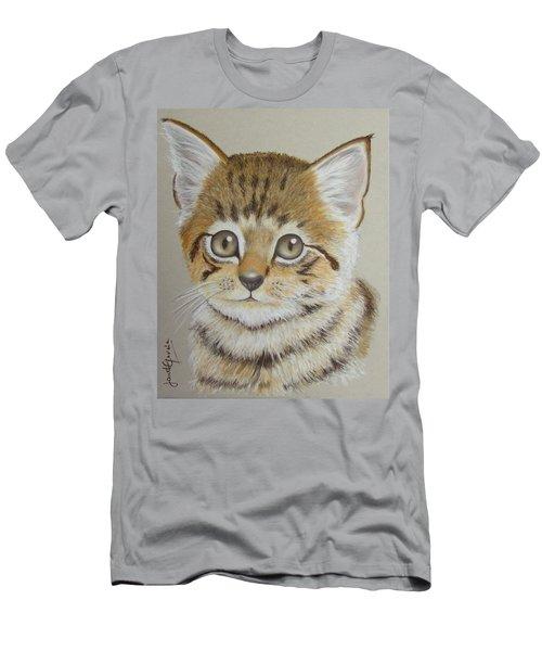 Little Kitty Men's T-Shirt (Slim Fit) by Janet Garcia