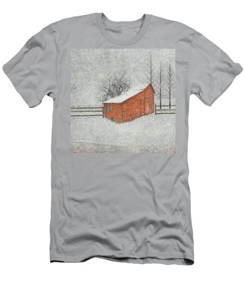 Little Red Barn Men's T-Shirt (Slim Fit) by Juli Scalzi
