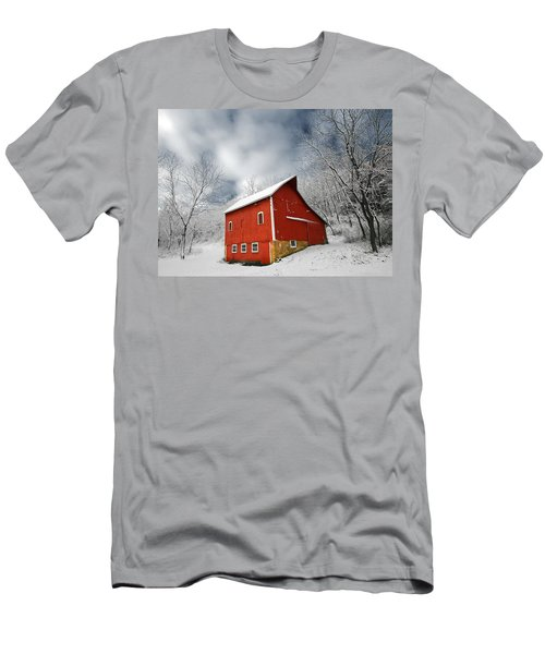 Men's T-Shirt (Athletic Fit) featuring the photograph Little Red Barn by Todd Klassy