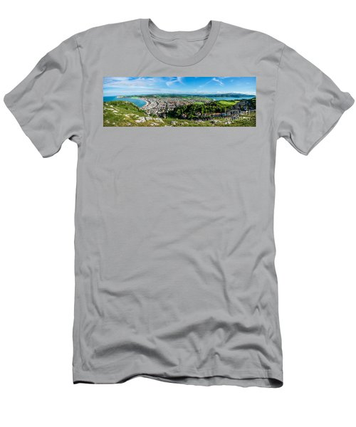 Llandudno Panorama Men's T-Shirt (Athletic Fit)