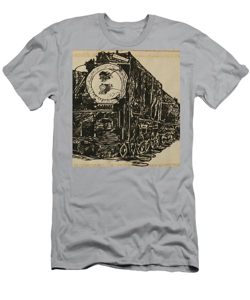 Locomotive Study Men's T-Shirt (Athletic Fit)