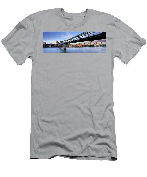 Millennium Bridge London 1 Men's T-Shirt (Slim Fit) by Rod McLean
