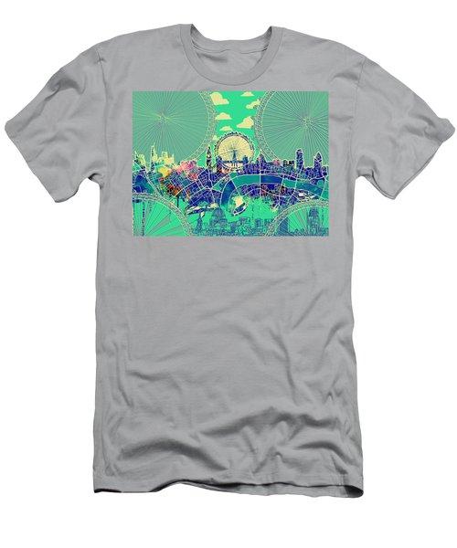 London Skyline Vintage 2 Men's T-Shirt (Athletic Fit)