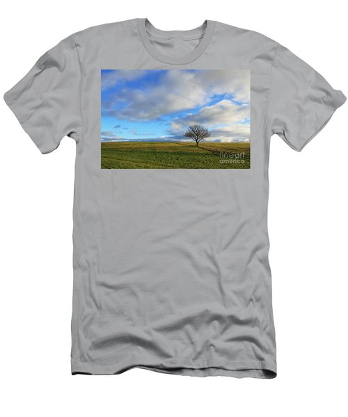 Lone Tree At Epsom Downs Uk Men's T-Shirt (Athletic Fit)