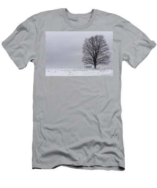 Lone Tree In The Fog Men's T-Shirt (Athletic Fit)