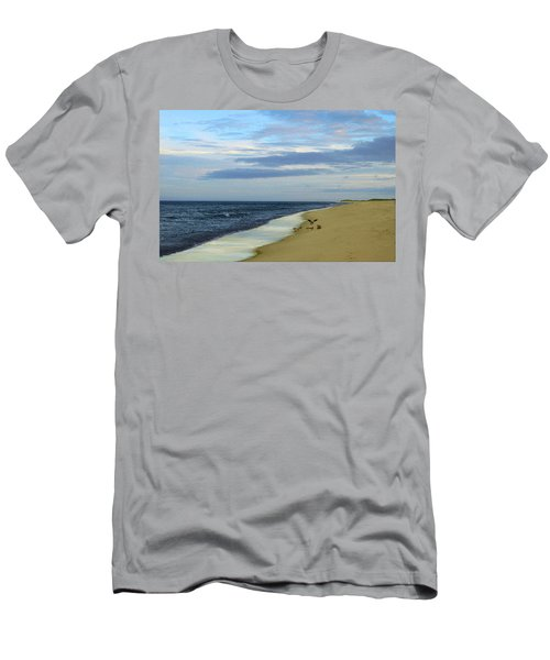 Lonely Cape Cod Beach Men's T-Shirt (Athletic Fit)