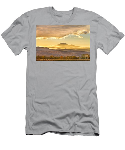 Longs Peak Autumn Sunset Men's T-Shirt (Athletic Fit)
