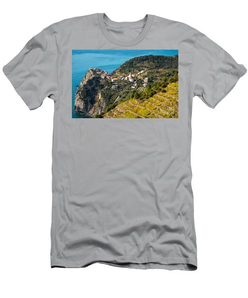 Looking Down Onto Corniglia Men's T-Shirt (Athletic Fit)