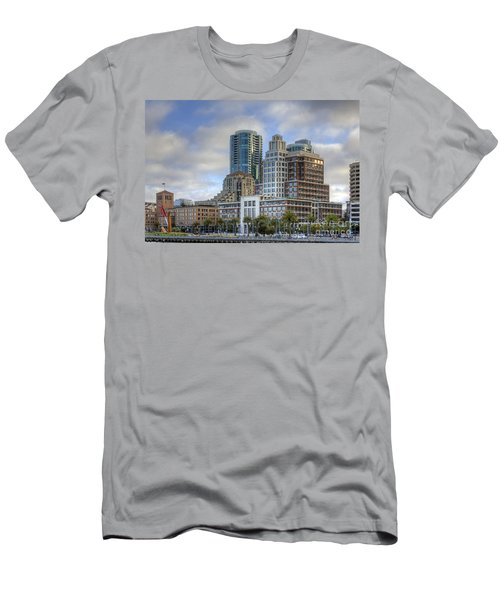Men's T-Shirt (Slim Fit) featuring the photograph Looking Downtown by Kate Brown