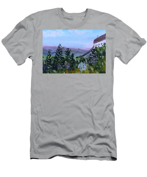 Looking Out From Top Of Jay Peak  Men's T-Shirt (Athletic Fit)
