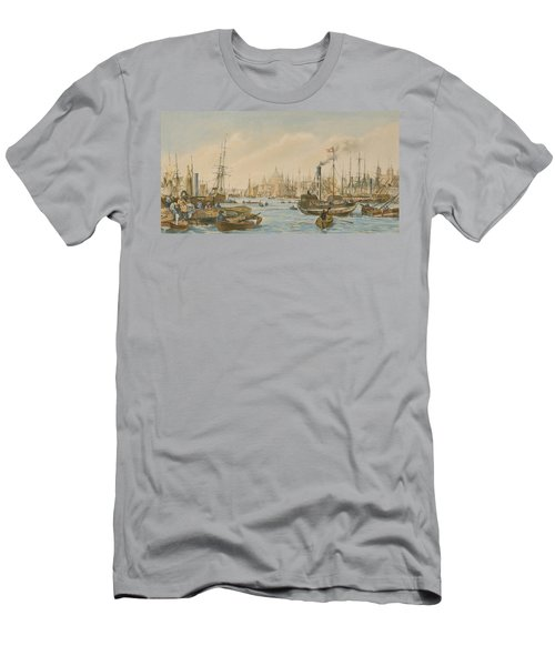 Looking Towards London Bridge Men's T-Shirt (Slim Fit) by William Parrot