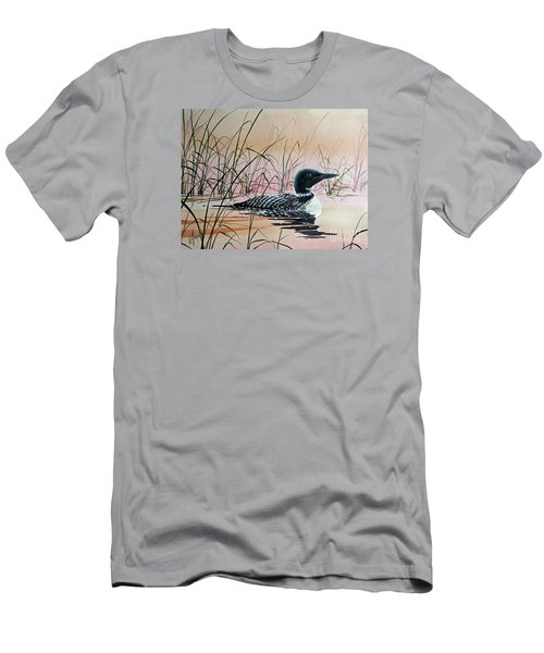 Loon Sunset Men's T-Shirt (Slim Fit) by James Williamson