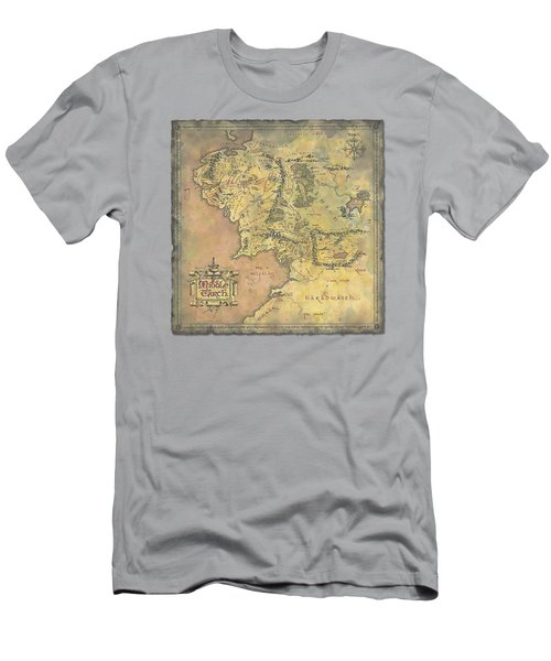 Lor - Middle Earth Map Men's T-Shirt (Athletic Fit)