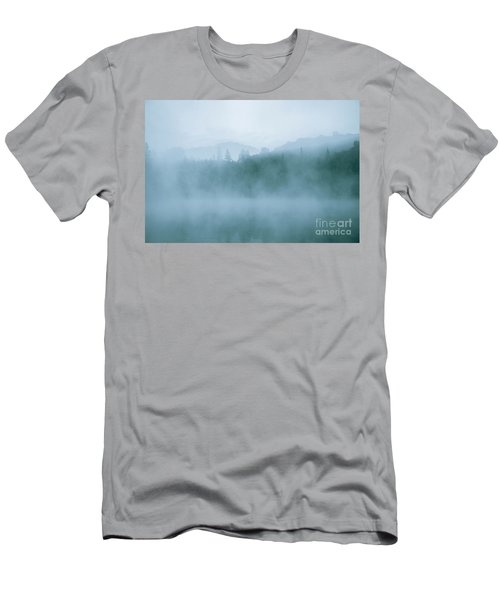 Lost In Fog Over Lake Men's T-Shirt (Athletic Fit)