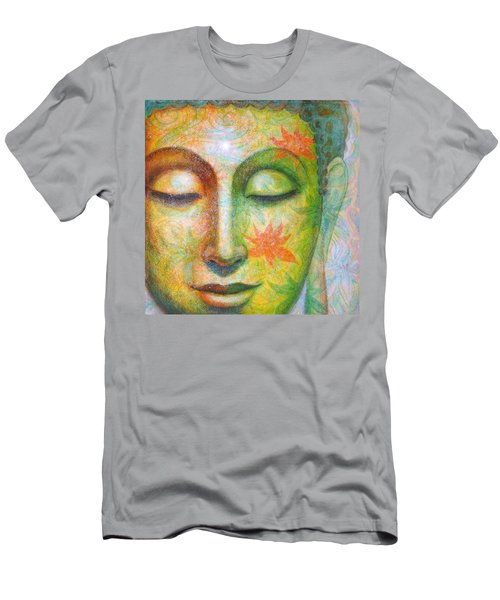 Men's T-Shirt (Slim Fit) featuring the painting Lotus Meditation Buddha by Sue Halstenberg