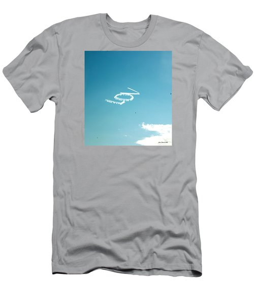 Men's T-Shirt (Slim Fit) featuring the photograph Lov In The Air  by Lorna Maza