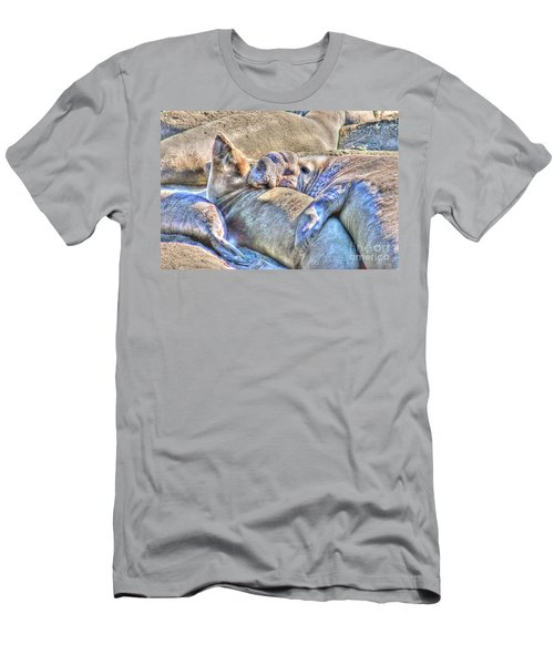 Love Hug - San Simeon California Men's T-Shirt (Athletic Fit)