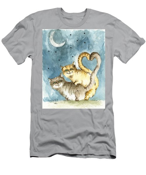 Love In The Moonlight Men's T-Shirt (Athletic Fit)