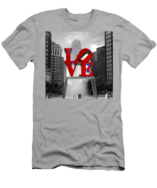 Love Is Always Black And White Square Men's T-Shirt (Athletic Fit)