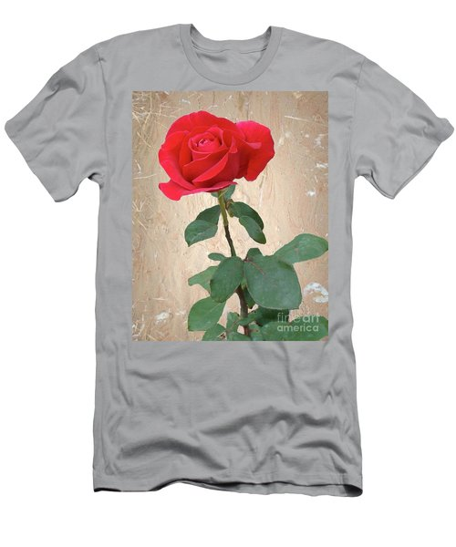 Love Is Like A Red Red Rose Men's T-Shirt (Athletic Fit)