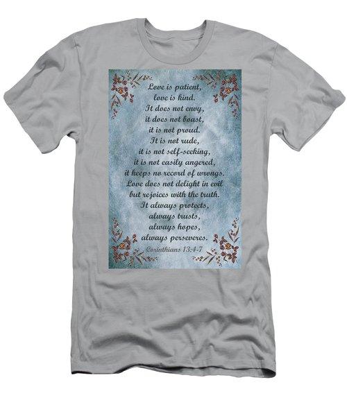 Love Is Patient Clouds Gold Leaf Men's T-Shirt (Athletic Fit)