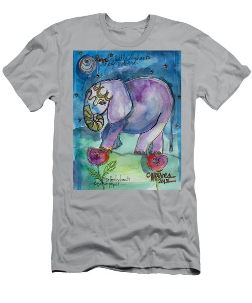 Lovely Little Elephant2 Men's T-Shirt (Athletic Fit)
