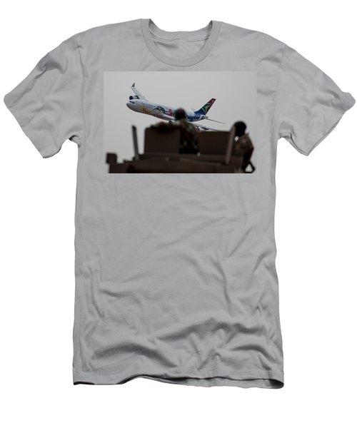 Low Airbus Men's T-Shirt (Slim Fit) by Paul Job