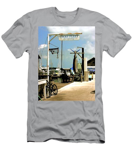 Lucky Fleet Key West  Men's T-Shirt (Slim Fit) by Iconic Images Art Gallery David Pucciarelli