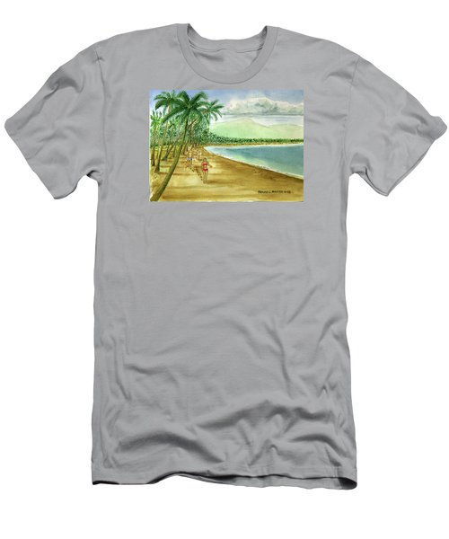 Luquillo Beach And El Yunque Puerto Rico Men's T-Shirt (Slim Fit) by Frank Hunter