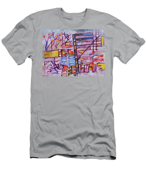 Men's T-Shirt (Slim Fit) featuring the painting Lysergic Descriptions by Jason Williamson