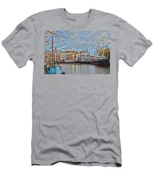 Maassluis Harbour Men's T-Shirt (Slim Fit) by Frans Blok