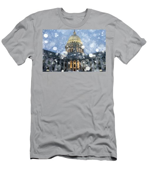 Men's T-Shirt (Athletic Fit) featuring the photograph Madisonian Winter by Todd Klassy
