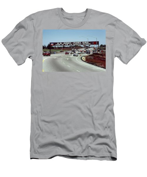 Main Gate 7th Inf. Div Fort Ord Army Base Monterey Calif. 1984 Pat Hathaway Photo Men's T-Shirt (Athletic Fit)