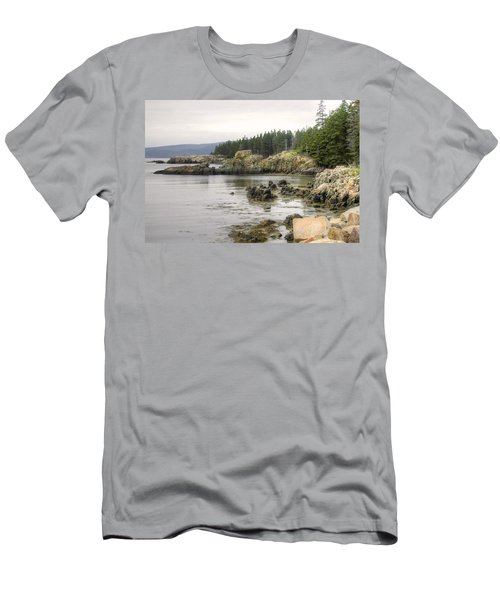 Maine's Beautiful Rocky Shore Men's T-Shirt (Athletic Fit)
