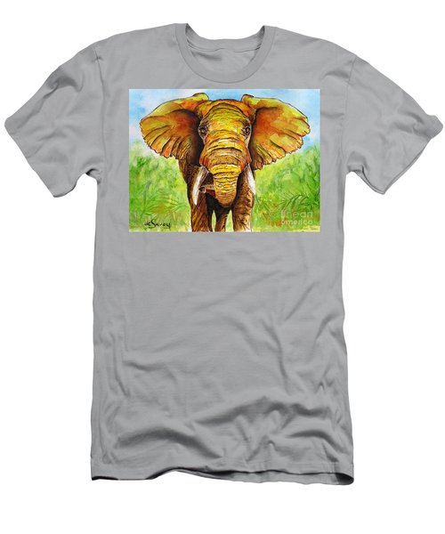Men's T-Shirt (Athletic Fit) featuring the painting Major Domo by Diane DeSavoy