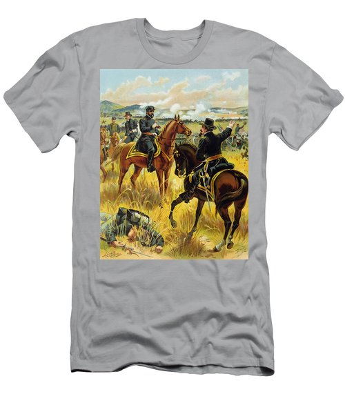 Major General George Meade At The Battle Of Gettysburg Men's T-Shirt (Athletic Fit)