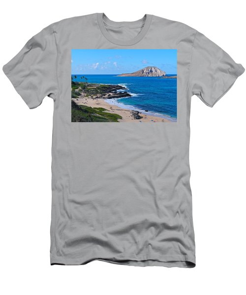 Makapuu Beach With Rabbit Island Men's T-Shirt (Athletic Fit)