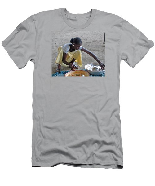 Making Lunch Dakar Senagal Men's T-Shirt (Slim Fit) by Jay Milo