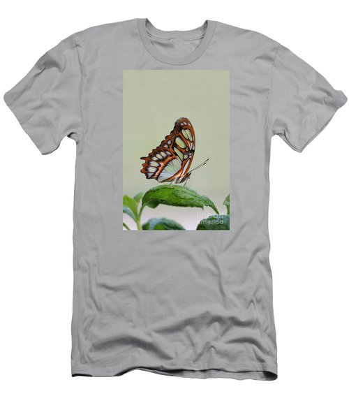 Men's T-Shirt (Slim Fit) featuring the photograph Malachite Butterfly #5 by Judy Whitton
