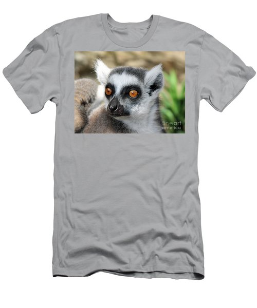 Men's T-Shirt (Slim Fit) featuring the photograph Malagasy Lemur by Sergey Lukashin